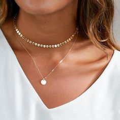 Dainty Choker Necklace Gold Choker Choker Necklace in Sterling Silver Gold Filled Perfect Layering Necklace by BlushesAndGold Layered Choker Necklace, Multi Layer Necklace, Beaded Choker Necklace, Layering Necklaces, Diamond Earrings, Diamond Necklaces, Jewelry Necklaces, Star Necklace, Silver Earrings