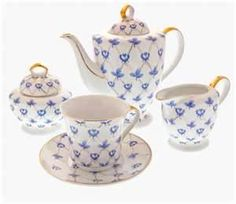 we shall have different tea sets in our tea room