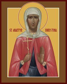 St. Christina Santa Cristina, Byzantine Art, Orthodox Icons, My Prayer, Catholic, Saints, Religion, Blessed, Female