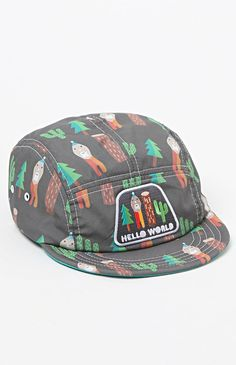 Hello World 5 Panel Hat Five Panel Hat, 5 Panel Cap, Snapback Hats, Beanie Hats, Cool Hats, Mens Caps, Hats For Men, Baseball Cap, Street Trends