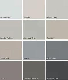 Grey Paints - Benjamin Moore - I believe Storm is the winner!!!! ♥