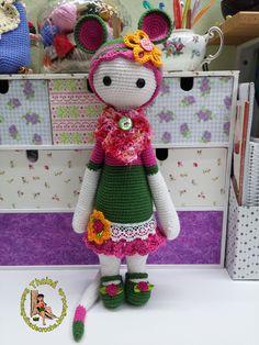 RADA the rat made by Rose K. / crochet pattern by lalylala Crochet Doll Clothes, Knitted Dolls, Crochet Books, Knit Crochet, Crochet Doll Pattern, Crochet Patterns, Kangaroo Craft, Amigurumi Toys, Crochet Animals