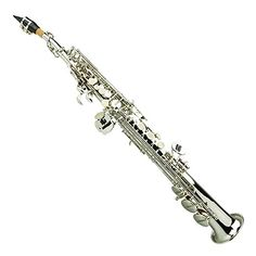 B Flat Silver Soprano Saxophone,Case,Reed,Screw Driver, Nipper,A Pair of Gloves,Soft Cleaning Cloth, Music Stand, Metro Tuner    Baritone Sax For Sale  Used Tenor Saxophone  New Saxophone  Saxophone Shop  Saxophone Neck  Saxophone Accessories  Saxophone Strap  Tenor Saxophone Price  Alto Saxophone Music  Black Saxophone  Alto Sax Price  Saxophone Ligature