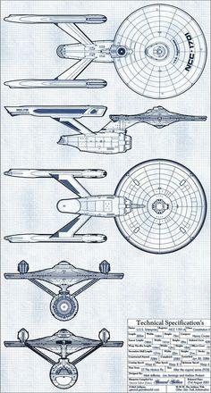 USS Enterprise - NCC-1701-A (Formerly USS Yorktown - NCC-1704) Constitution II Class: Multiple Views