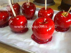 ΚΑΡΑΜΕΛΩΜΕΝΑ ΜΗΛΑ – Koykoycook Caramel Apples, Cherry, Fruit, Desserts, Food, Tailgate Desserts, Deserts, Eten, Postres