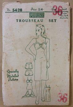 1940s uncut sewing vintage pattern Pauline by 101VintagePatterns