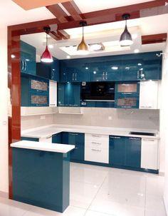 Kitchen Design Decor, Interior Design Kitchen, Kitchen Modular, Kitchen Room Design, Room Door Design, Modern Kitchen Cabinet Design, Kitchen Furniture Design, Cupboard Design, Ceiling Design Living Room