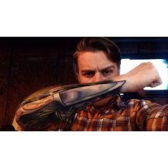 Chef knife tattoo