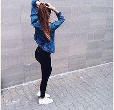 Leggings jean jacket