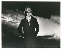 Howard Hughes standing beside the Northrop Gamma Racer, January 1, 1936.