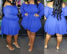 CurvePlus Clothing – Heels & Curves Fashion Beautique Zara Dresses, Blue Dresses, Brunch Dress, Women's Flares, Metal Hair Clips, Trendy Hairstyles, Ruffle Dress, Flare Dress, Plus Size Outfits
