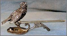 Wilcox Silverplate Bird Knife Rest, c.1880