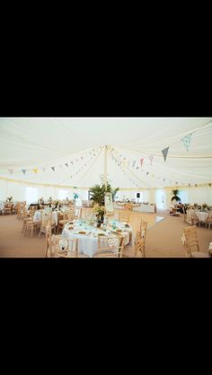 Circular marquee so everyone could see and personalised hearts for all the guests
