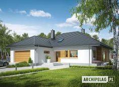 Liv 3 G1 - projekt domu - Archipelag Cottage Style House Plans, Bungalow House Plans, Village House Design, Village Houses, Facade House, Marcel, My House, Gazebo, Kitchen Design