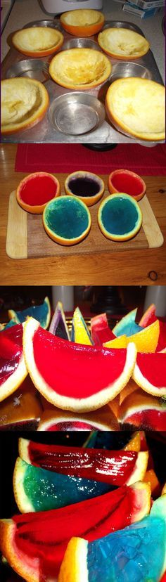 Orange Jello Shot Recipe & Tutorial (Can be made with alcohol for the adults, or with fruit juice for the kiddies!)
