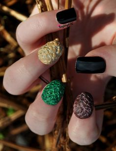 Game of Thrones - 3D Dragon Egg Nail Art for Easter :)