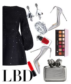 """LBD"" by lisacom ❤ liked on Polyvore featuring Zimmermann, Jimmy Choo, Nancy Gonzalez, Oscar de la Renta, La Petite Robe di Chiara Boni, MAC Cosmetics, BERRICLE and Anastasia Beverly Hills"