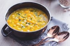 Zuppa ceci e zucca- squash and chickpea soup — Gaia's Plate Veggie Recipes, Cooking Recipes, Healthy Recipes, Biscotti, Grilled Bread, Chickpea Soup, New Cooking, Eating Organic, Light Recipes