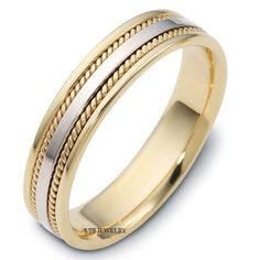 10K-TWO-TONE-GOLD-MENS-BRAIDED-WEDDING-BAND-RING-5MM