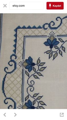 This Pin was discovered by Esi Cross Stitch Borders, Cross Stitch Designs, Cross Stitching, Cross Stitch Embroidery, Hand Embroidery, Cross Stitch Patterns, Afghan Patterns, Easy Crochet Patterns, Cross Stitch Cushion