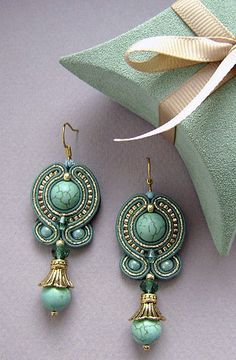 soutache. I have never worked with it but now that I see these earrings, I'm going to have to try!
