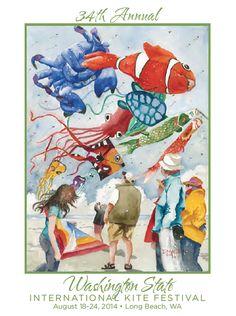 2014 Washington State International Kite Festival at Long Beach WA