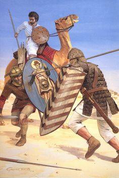 Стычка пальмирских воинов с римлянами в Дельте Нила, 269 год н.э.