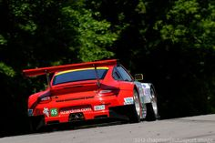 Flying Lizard Porsche GT-3RS @ Lime Rock Park, CT today