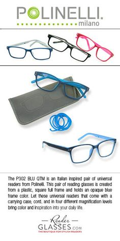 The P302 BLU QTM is an Italian inspired pair of universal readers from  Polinelli. This 7b4f2dc42d