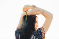 Vintage statement jewelry and summer dresses. #bohochic #fashion #dress #style #gifts