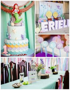 Mermaid themed birthday party via Kara's Party Ideas | KarasPartyIdeas.com (5)