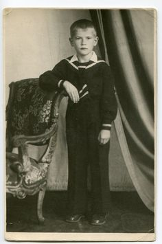 Cute little boy in sailor suit Russia Soviet Union 1955 first day of school ORIGINAL vintage photo by PhotoMemoriesLane on Etsy