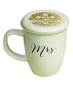 Look what I found on #zulily! White 'Mrs.' Coaster Mug #zulilyfinds
