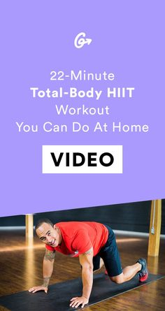 An At-Home HIIT Workout for When You Just Can't Deal With Going to the Gym | Gym? Thought you said gin.  #greatist