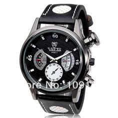 Дешевое Валя часы мужчины круглый циферблат аналогового дисплея стильные наручные часы с движением сплав чехол мужчины наручные часы, Купить Качество Наручные часы непосредственно из китайских фирмах-поставщиках: 2015 New Men's Movement Watches Top Brand Luxury Leather Strap Watch quartz watch For Men Cheap GIFT WatchUS $ 21.99/pie