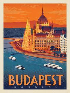 Image result for budapest travel poster