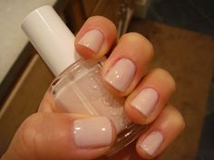 "Essie's 'Ballet Slipper'...  They call it the ""wedding shade."""