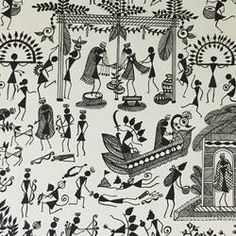 Buy Warli Paintings 2 Painting at Lowest Price by Ragini Pandey Doodle Art Drawing, Pencil Art Drawings, Drawing For Kids, Drawing Tips, Worli Painting, Online Painting, Art Indien, Pichwai Paintings, Wedding Painting