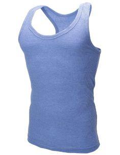 FLATSEVEN Mens Plain Tank Top Shirts (TT100) Light Blue, M *** Find out more details @