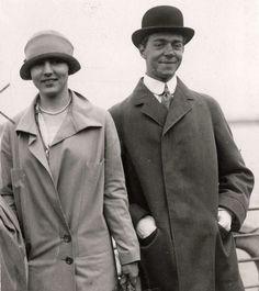 Queen Ingrid & Prince Sigvard via Miss Honoria Glossop; love the Prince's smile