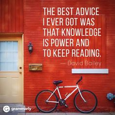 Knowledge is power. Keep reading. #ThursdayThoughts