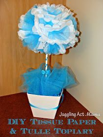 Juggling Act: DIY Tissue Paper & Tulle Topiary