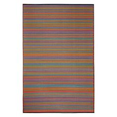 Bring a spark of colour back to your space with the durable and eco-friendly Cancun Indoor/Outdoor Rug, Multicolour from FAB Rugs.