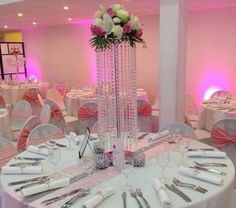 10pcs Wedding Crystal Table Centerpiece Flower Candle Stand Table Decoration