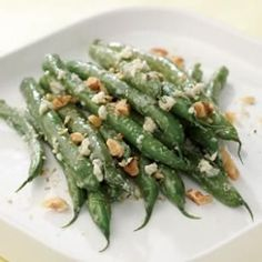 Blue Cheese-Walnut Green Beans—the simple and elegant holiday vegetable side dish you need.