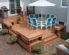 small deck ideas for mobile homes.Just because you have a tiny backyard doesn't suggest you can't have a stylish deck. Learn the building demands and also Small Deck Designs, Patio Deck Designs, Patio Design, Diy Pergola, Gazebo, Pergola Kits, Pergola Ideas, Cheap Pergola, Backyard Ideas