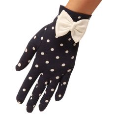 Our polka dot wrist length cotton glove with a bow Length - Wrist Length Material - Cotton stretch Sizing - Please see our size guide to ensure a good fit Bride Gloves, Wedding Gloves, Cotton Gloves, Ethnic Wear Designer, Dress Gloves, How To Make Bows, World Of Fashion, Timeless Fashion, Navy And White