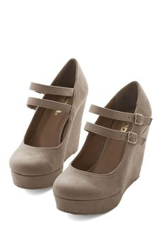 Apple Cider Cocktails Wedge - High, Faux Leather, Tan, Solid, Platform, Wedge