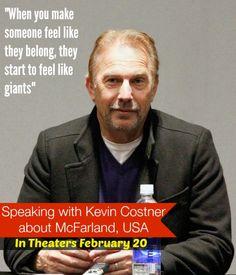 Inspiring Words from Kevin Costner about McFarland, USA #McFarlandUSAEvent