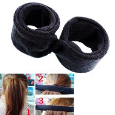 Fashion Women Lady Black Hairagami Hair Bun Wrap Undo Fold Styling Tool Shaper For Girls Drop Shipping
